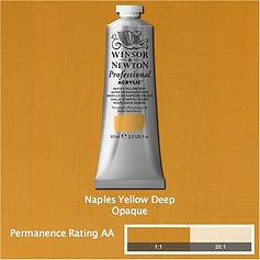 Winsor and Newton Naples Yellow Deep Professional Acrylic