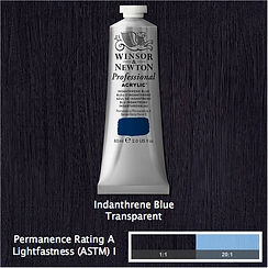 Winsor and Newton Indanthrene Blue Professional Acrylic