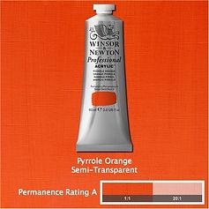 Winsor and Newton Pyrrole Orange Professional Acrylic