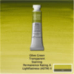 Winsor and Newton Olive Green Professional Watercolours