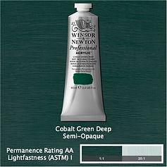 Winsor and Newton Cobalt Green Deep Professional Acrylic