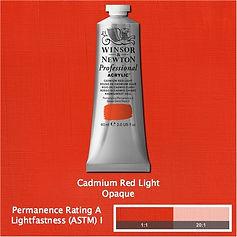 Winsor and Newton Cadmium Red Light Professional Acrylic