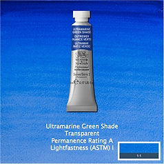 Winsor and Newton Ultramarine Green Shade Professional Watercolour