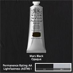 Winsor and Newton Mars Black Professional Acrylic