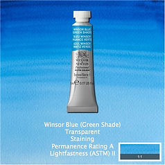 Winsor and Newton Winsor Blue Green Shade Professional Watercolour