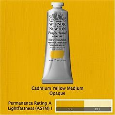 Winsor and Newton Cadmium Yellow Medium Professional Acrylic
