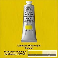 Winsor and Newton Cadmium Yellow Light Professional Acrylic