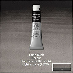 Winsor and Newton Lamp Black Professional Watercolour