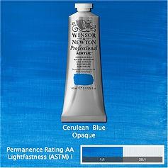 Winsor and Newton Cerulean Blue Professional Acrylic