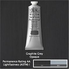 Winsor and Newton Graphite Grey Professional Acrylic
