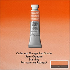 Winsor and Newton Cadmium Orange Red Shade Profesional Watercolour