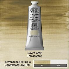 Winsor and Newton Davy's Grey Professional Acrylic