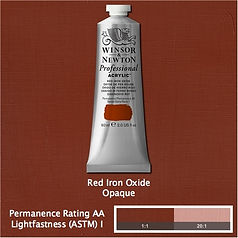 Winsor and Newton Red iron Oxide Professional Acrylic