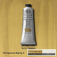 Winsor and Newton Antique Gold Professional Acrylic