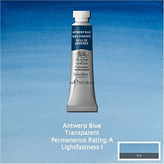 Winsor and Newton Antwerp Blue Professional Watercolour