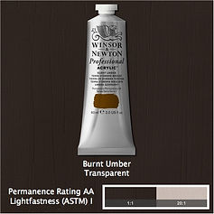 Winsor and Newton Burnt Umber Professional Acrylic