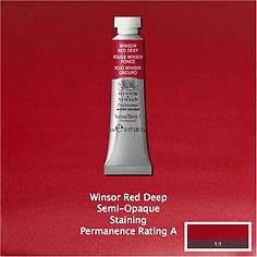 Winsor and Newton Winsor Red Deep Professional Watercolor