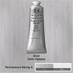 Winsor and Newton Silver Professional Acrylic