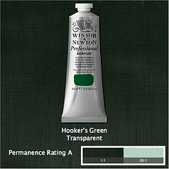Winsor and Newton Hooker's Green Professional Acrylic