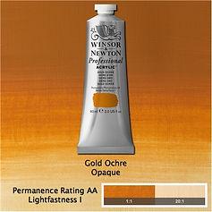 Winsor and Newton Gold Ochre Professional Acrylic