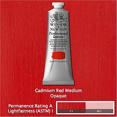 Winsor and Newton Cadmium Red Medium Professional Acrylic