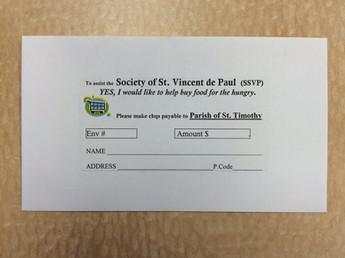 SSVP Donation Envelope