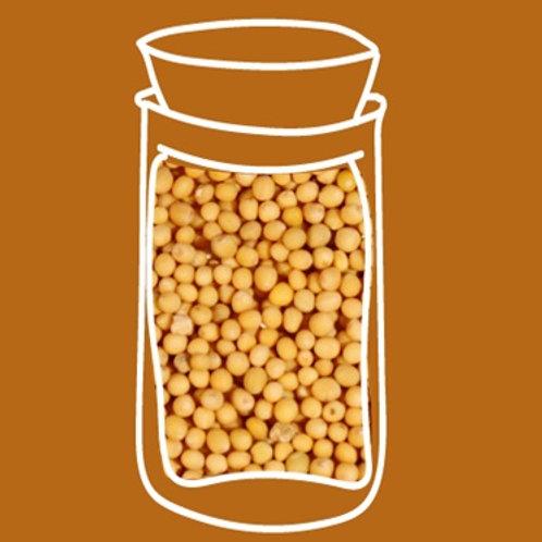 Mostaza amarilla en grano