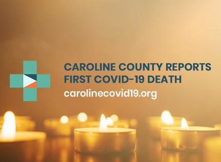 Caroline County Announces COVID-19 Death