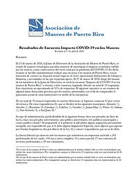 AMPR Resultados de Encuesta Impacto COVI