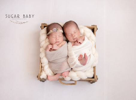 Twin Boy & Girl, Newborn