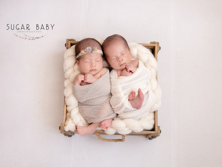 Twin Boy & Girl, Newborn