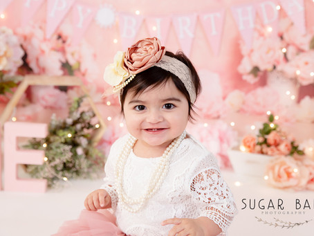 1st Birthday Baby Girl's Cake