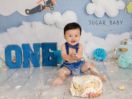 Smash Cake, 1 Year Baby Boy