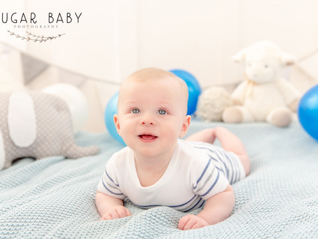 Tummy Time: 4 Months Boy