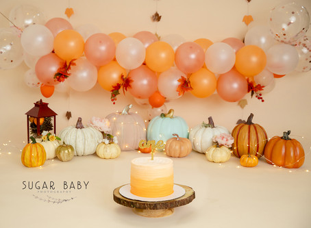 Yum Pumpkins! Pumpkin Theme Smash Cake