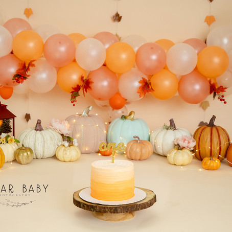 Yum Pumpkins! Pumpkin Theme Smash Cake