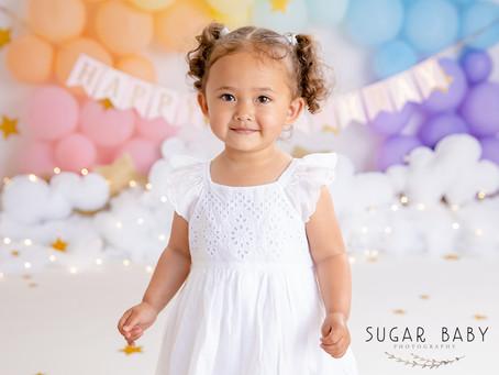 2nd Year Birthday Baby Girl, Cake Smash
