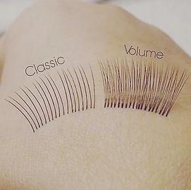 Classic lashes vs Volume lashes