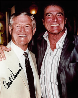 DICK VERMEIL EAGLES SIGNED 8X10 WITH VINCE PAPALE INVINCIBLE