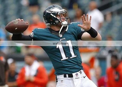 Carson Wentz Philadelphia Eagles Rookie year photo