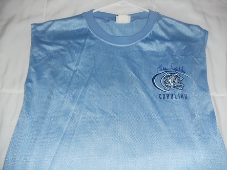 Dean Smith North Carolina Tarheels autographed mesh warm up jersey Hall of Fame