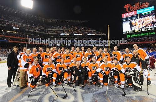 2011 Philadelphia Flyers Winter Classic Alumni team 8x10 photo