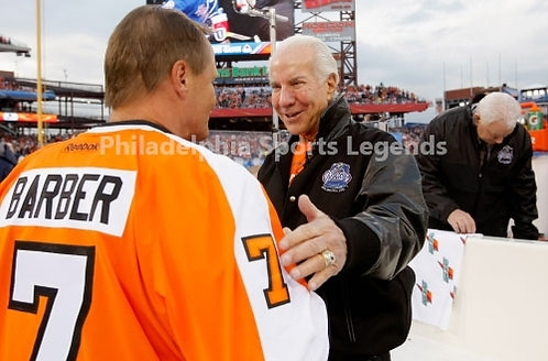 Ed Snider Bill Barber Philadelphia Flyers 2012 Winter Classic Alumnni 8x10 HOF