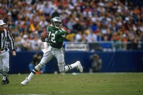 RANDALL CUNNINGHAM PHILADELPHIA EAGLES PHOTO SCRAMBLING
