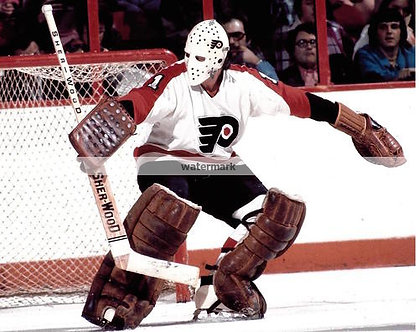 BERNIE PARENT FLYERS BROAD ST BULLIES STANLEY CUP SAVE