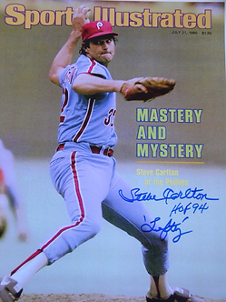 Steve Carlton Phillies signed Sports Illustrated 11x17 poster Hall of Fame