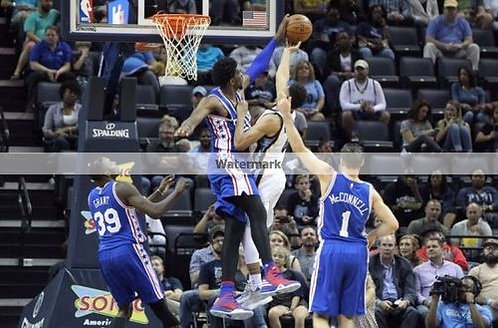 Joel Embiid Philadelphia 76ers block photo awesome!