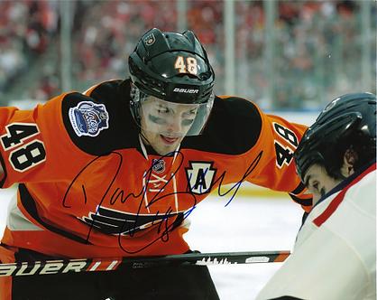Danny Briere Philadelphia Flyers autographed 2012 Winter Classic action 8x10
