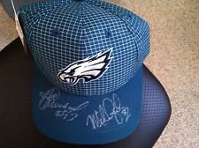 HAROLD CARMICHAEL MIKE QUICK DUAL SIGNED PHILADELPHIA EAGLES NEW HAT