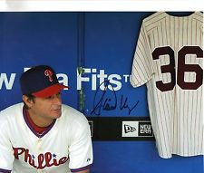 JAMIE MOYER PHILADELPHIA PHILLIES SIGNED 8x10 WITH ROBIN ROBERTS CLASSIC!